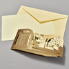 Rodin Museum Pop Up Card, flat with envelope