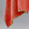 Cotton Shawl Fern Coral & Tan