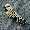 Beaded Cactus Wren Pin