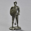 Knight in Armor with Rondache and Spiked Flail Reproduction, front