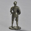 Knight in Armor with Rondache and Spiked Flail Reproduction, back