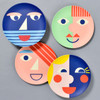 Bamboo Face Plates in blue, coral, green, yellow (sold separately)