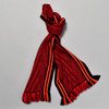 Red Bamboo Scarf Deep V with Paprika Edge