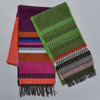 Brightly Striped Lambswool Scarf, with Green Chevron Edge Lambswool Scarf, sold separately