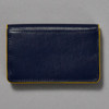 Leather Envelope Wallet, navy / yellow, back
