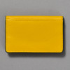 Leather Envelope Wallet, yellow / navy, back