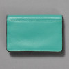 Leather Envelope Wallet, turquoise / brown, back