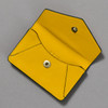 Leather Envelope Wallet, yellow / navy, open