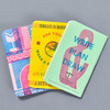 United States of Letterpress Notebooks B (Set of 3), fanned out, backs