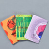 United States of Letterpress Notebooks A (Set of 3), fanned out, backs