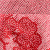 One Of A Kind Light Red with Cascading Flowers Shibori Blouse, close up