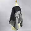 One Of A Kind Black & White Shibori Blouse, on mannequin
