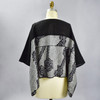 One Of A Kind Black & White Shibori Blouse, showing back, on mannequin