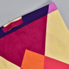 Heartmade Red & Purple Large Geometric Tote, close up