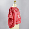 One Of A Kind Red Shibori Blouse, on mannequin