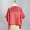One Of A Kind Red Shibori Blouse, showing back, on mannequin