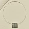 Stripe Rare Wood Pendant Necklace