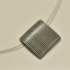 Stripe Rare Wood Pendant Necklace, close up