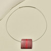 Red Center Wood Pendant Necklace