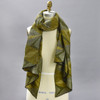 Abstract Olive Diamonds Scarf, on mannequin