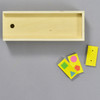 Shape Dominoes, box and dominoes