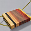 Small Exotic Wood and Brass Plant Stand by Honorable Oak, close up of wood