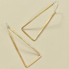 Hex Hoops Bronze Earrings with Sterling Wires