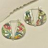 Vintage Tin 2 Sided Secure Latch Earrings