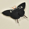 Embroidered & Beaded Swallowtail Butterfly Pin, back