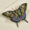 Embroidered & Beaded Swallowtail Butterfly Pin