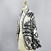 Folksong Cotton Cocoon Wrap, front, three-quarter view on mannequin