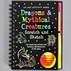 Front cover of Dragons and Mythical Creatures Scratch & Sketch