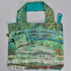 Monet Japanese Footbridge Folding Tote, with pouch