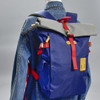 Roll-top Backpack - Navy, on mannequin