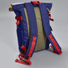 Roll-top Backpack - Navy, back, showing straps