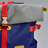 Roll-top Backpack - Navy, close up