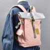 Roll-top Backpack - Pink, on mannequin