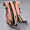 Roll-top Backpack - Pink, back, showing straps