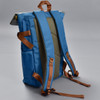 Roll-top Backpack - Ice Blue, back, showing straps