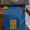 Roll-top Backpack - Ice Blue, close up