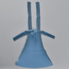 Plant Based Vertical Pleated Tote - blue