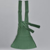 Plant Based Vertical Pleated Tote - green