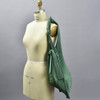 Plant Based Vertical Pleated Tote - green, on mannequin