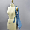Plant Based Vertical Pleated Tote - blue, on mannequin