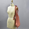 Plant Based Vertical Pleated Tote - red, on mannequin
