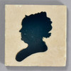 Moses Williams: Silhouette Elizabeth DePeyster Peale Tile by The Painted Lily