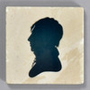 Moses Williams: Silhouette Rubens Peale Tile by The Painted Lily