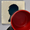 Moses Williams: Silhouette Rubens Peale Tile by The Painted Lily, with mug