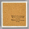 Moses Williams: Silhouette Rubens Peale Tile by The Painted Lily, back of tile
