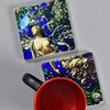 La Farge: Spring Tile Pair by The Painted Lily, with mug